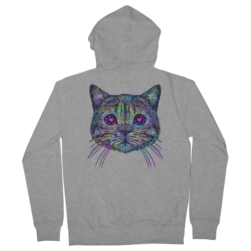 Love Cat Women's French Terry Zip-Up Hoody by barmalisiRTB