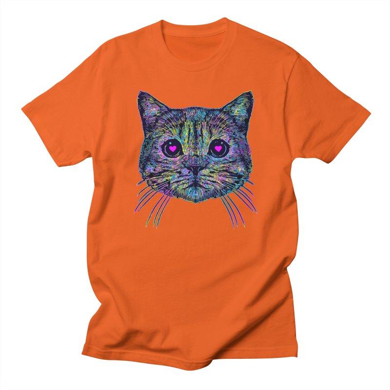 Love Cat Men's Regular T-Shirt by barmalisiRTB