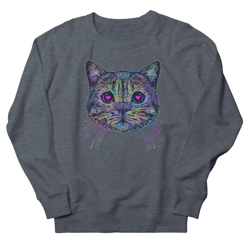 Love Cat Men's French Terry Sweatshirt by barmalisiRTB