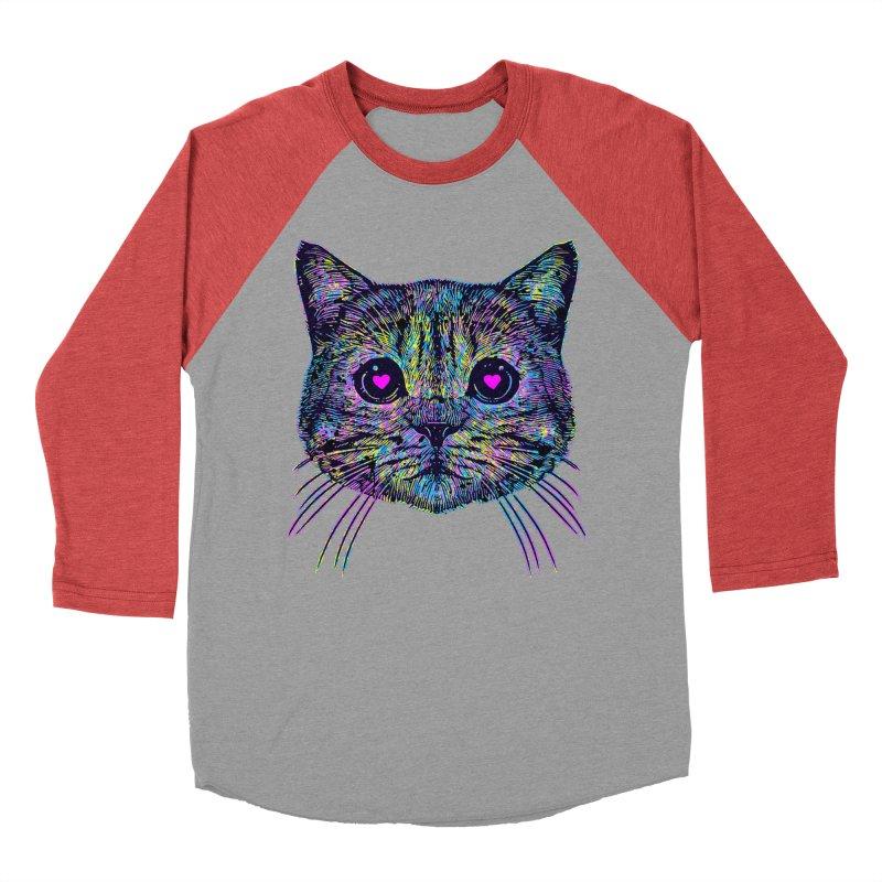 Love Cat Women's Baseball Triblend Longsleeve T-Shirt by barmalisiRTB