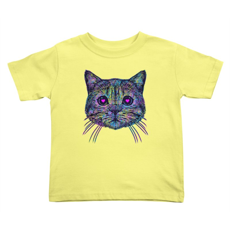 Love Cat Kids Toddler T-Shirt by barmalisiRTB