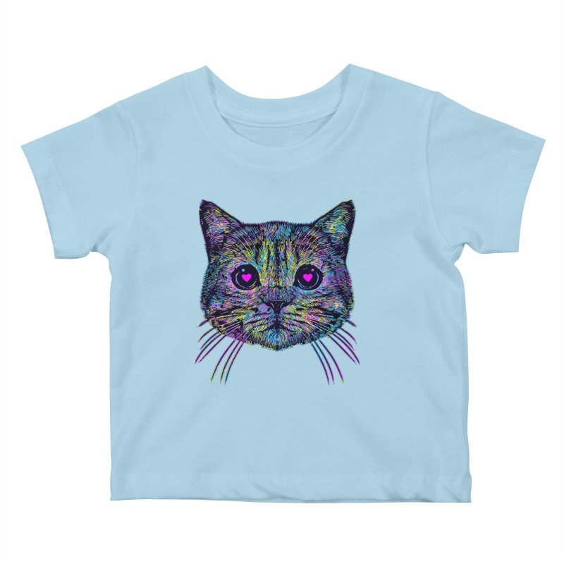 Love Cat Kids Baby T-Shirt by barmalisiRTB