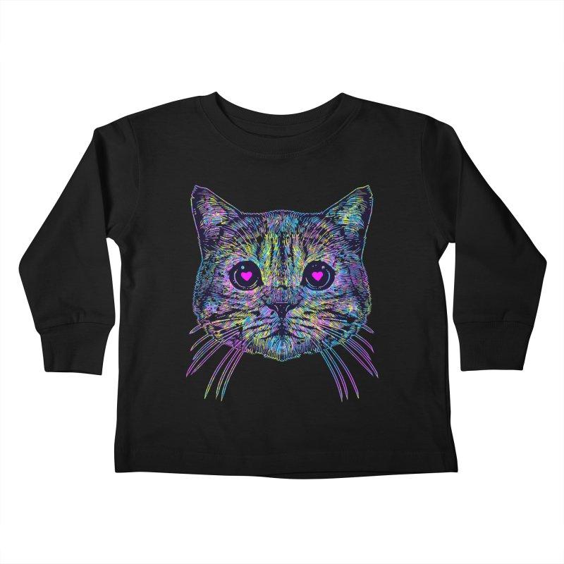 Love Cat Kids Toddler Longsleeve T-Shirt by barmalisiRTB