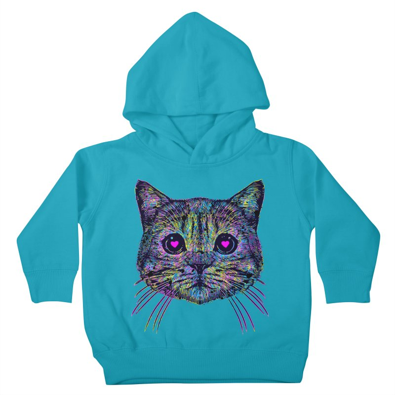 Love Cat Kids Toddler Pullover Hoody by barmalisiRTB