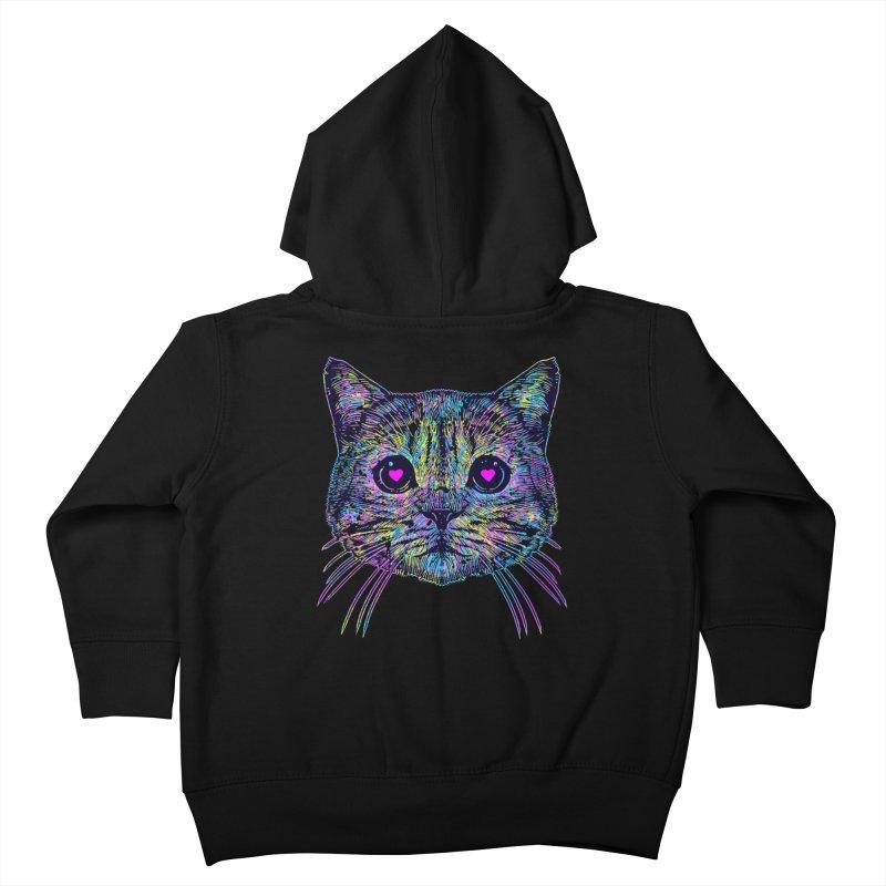 Love Cat Kids Toddler Zip-Up Hoody by barmalisiRTB