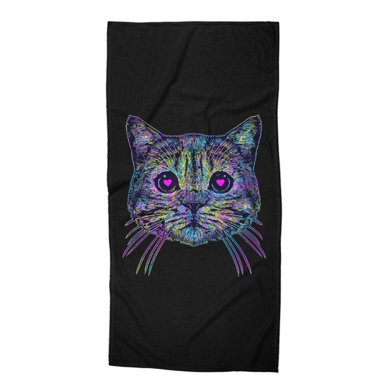 Love Cat Accessories Beach Towel by barmalisiRTB