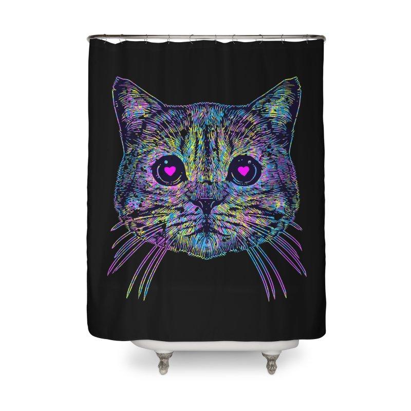 Love Cat Home Shower Curtain by barmalisiRTB