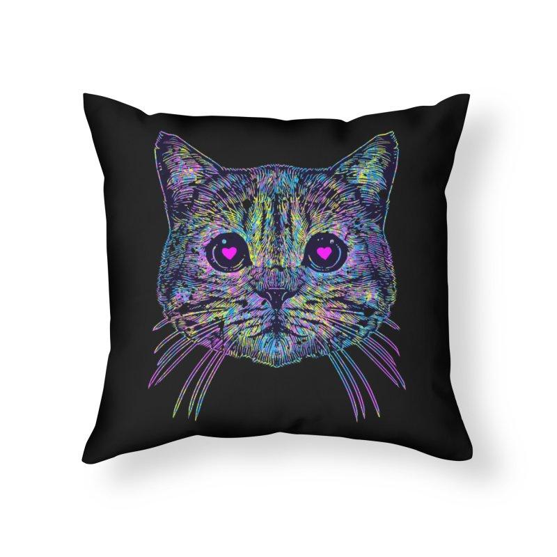 Love Cat Home Throw Pillow by barmalisiRTB