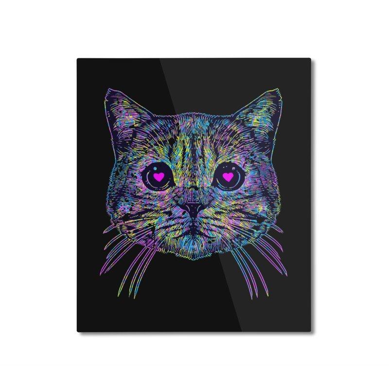 Love Cat Home Mounted Aluminum Print by barmalisiRTB