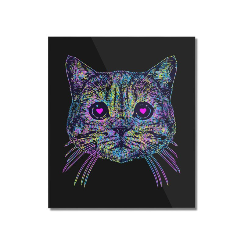 Love Cat Home Mounted Acrylic Print by barmalisiRTB