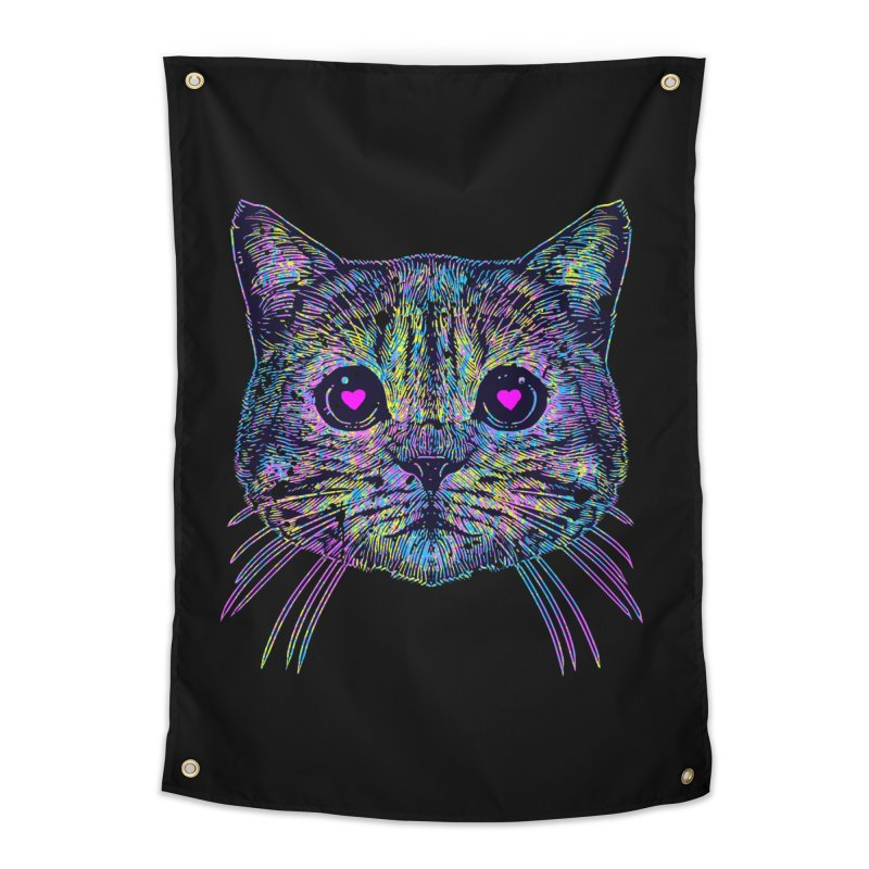 Love Cat Home Tapestry by barmalisiRTB