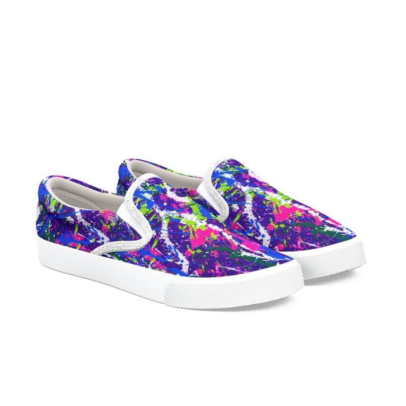 Abstract fans One Men's Slip-On Shoes by barmalisiRTB