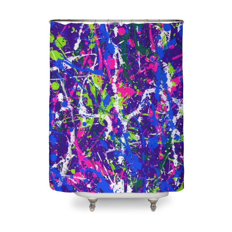 Abstract fans One Home Shower Curtain by barmalisiRTB