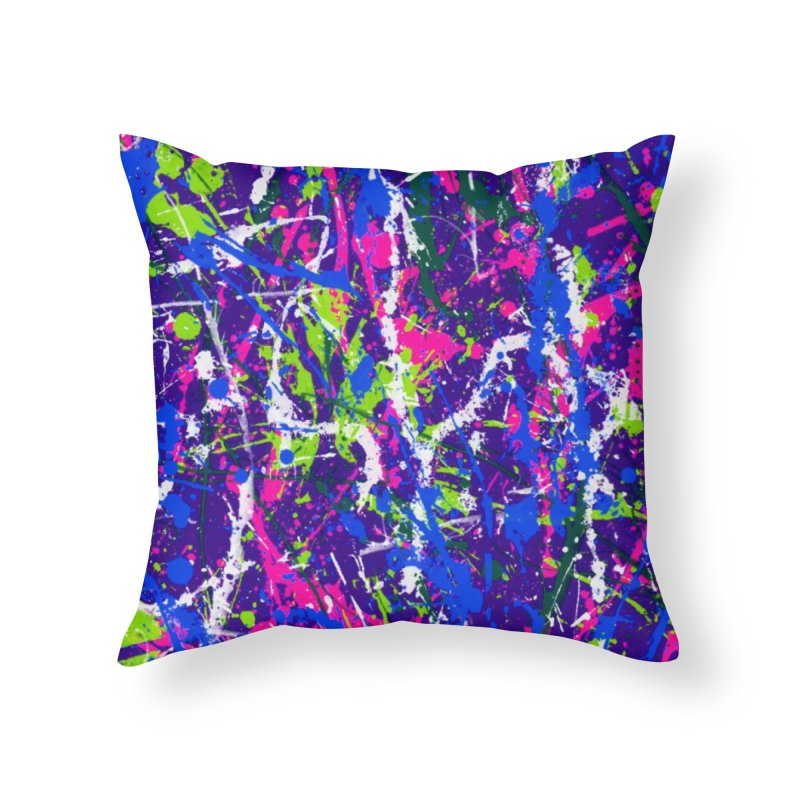 Abstract fans One Home Throw Pillow by barmalisiRTB