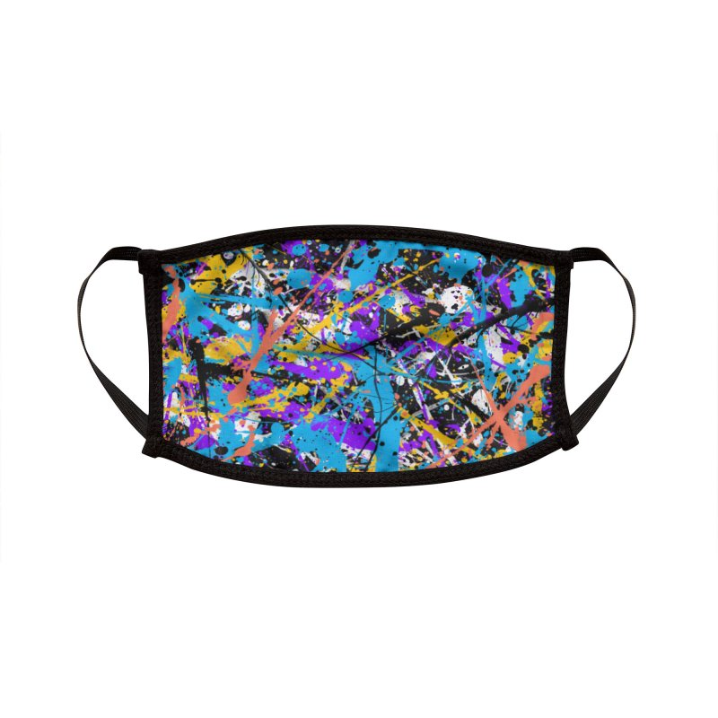 Abstract fans Two Accessories Face Mask by barmalisiRTB
