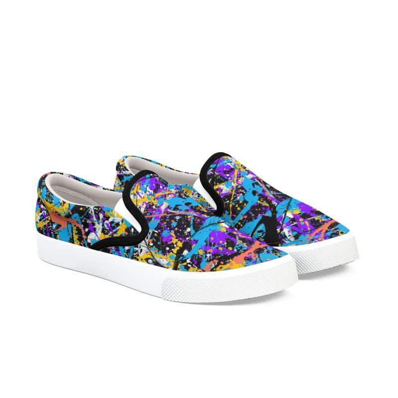 Abstract fans Two Men's Slip-On Shoes by barmalisiRTB