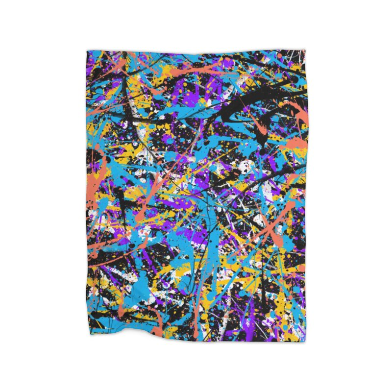 Abstract fans Two Home Blanket by barmalisiRTB