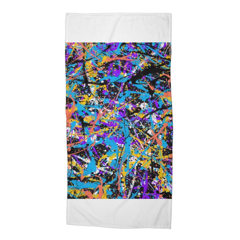 Abstract fans Two Accessories Beach Towel by barmalisiRTB