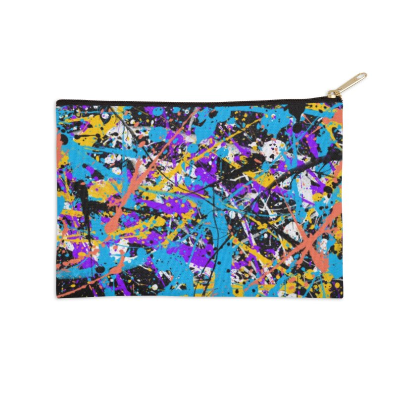 Abstract fans Two Accessories Zip Pouch by barmalisiRTB