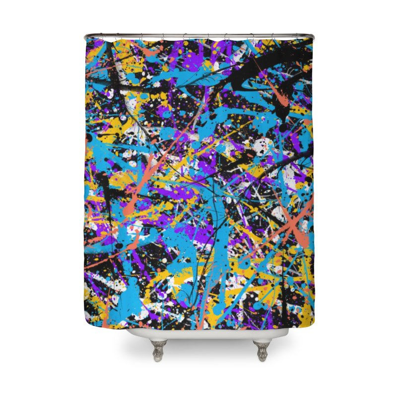 Abstract fans Two Home Shower Curtain by barmalisiRTB