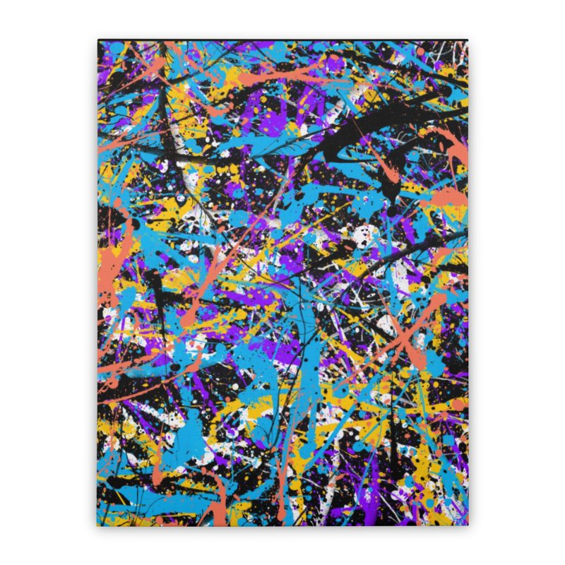 Abstract fans Two Home Stretched Canvas by barmalisiRTB