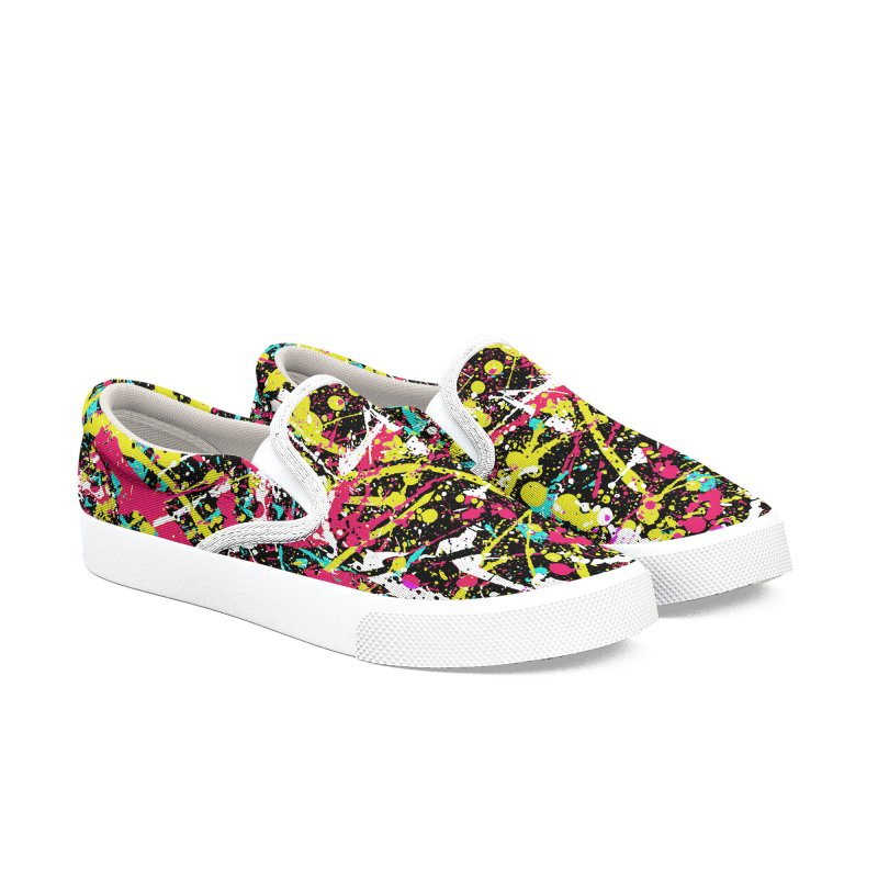 Abstract Fans three Women's Slip-On Shoes by barmalisiRTB