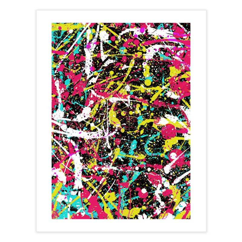 Abstract Fans three Home Fine Art Print by barmalisiRTB
