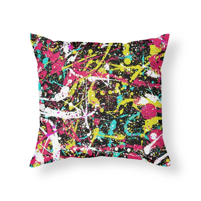Abstract Fans three Home Throw Pillow by barmalisiRTB