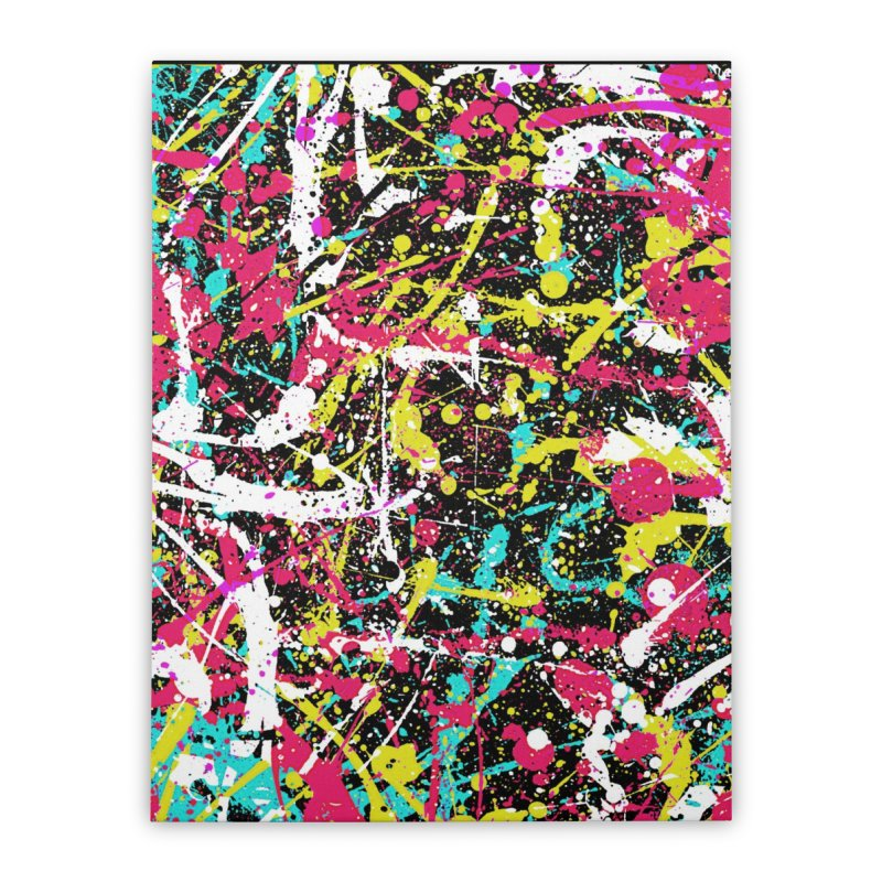 Abstract Fans three Home Stretched Canvas by barmalisiRTB