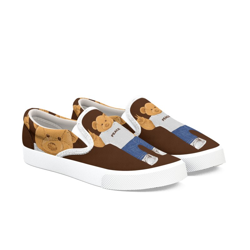 Peace Bear Men's Slip-On Shoes by barmalisiRTB