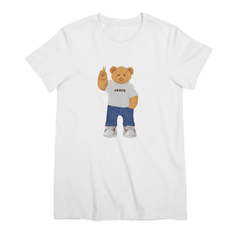 Peace Bear Women's Premium T-Shirt by barmalisiRTB