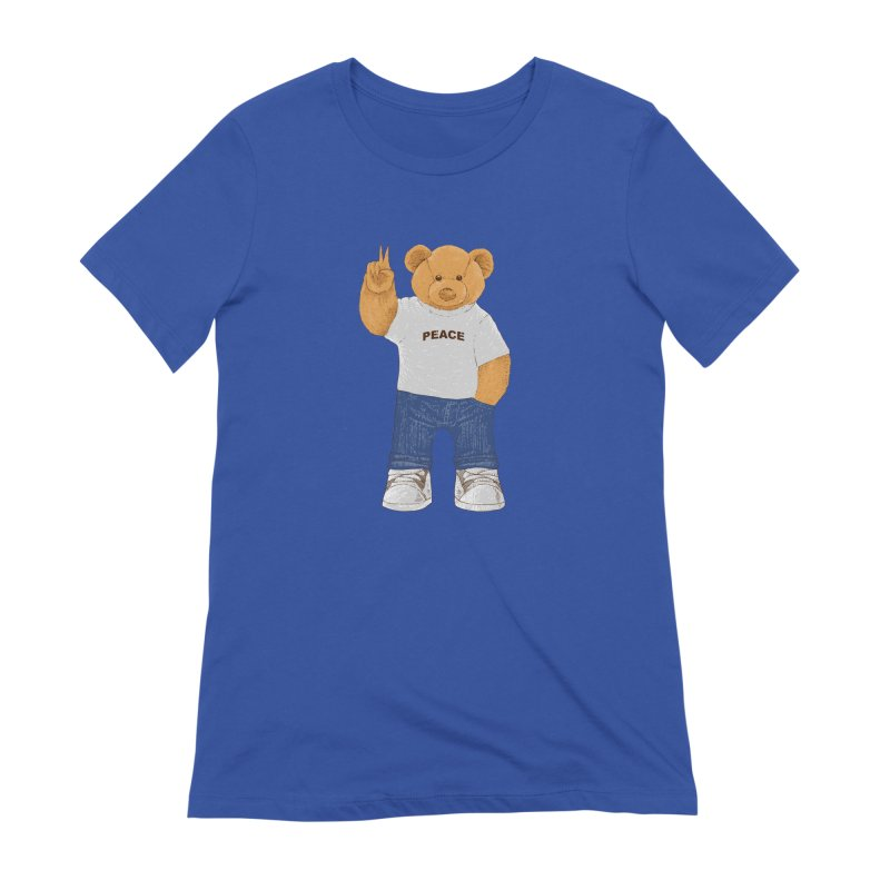Peace Bear Women's Extra Soft T-Shirt by barmalisiRTB
