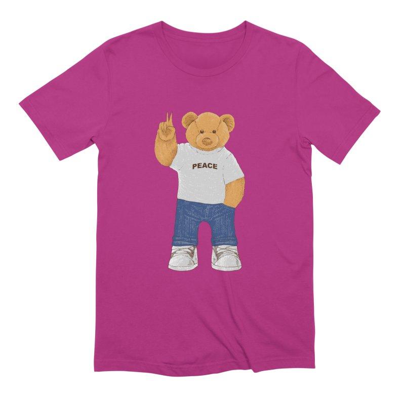 Peace Bear Men's Extra Soft T-Shirt by barmalisiRTB