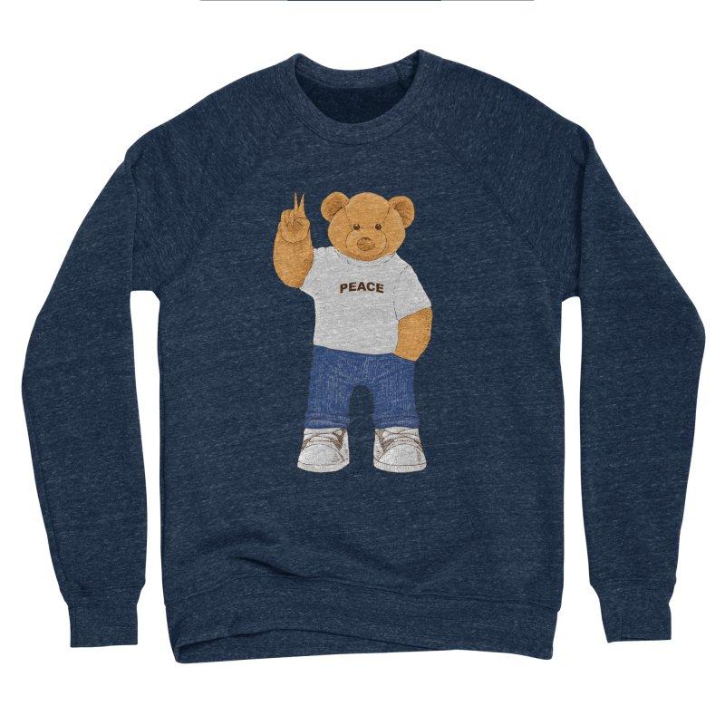 Peace Bear Men's Sponge Fleece Sweatshirt by barmalisiRTB