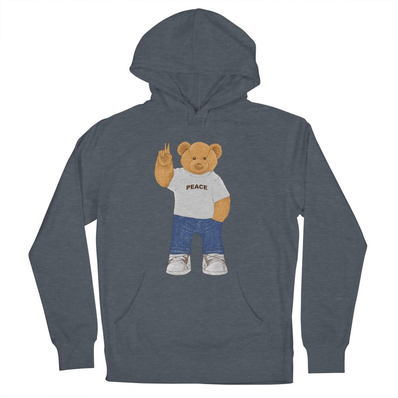 Peace Bear Men's French Terry Pullover Hoody by barmalisiRTB