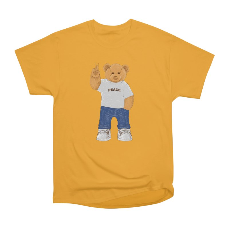 Peace Bear Men's Heavyweight T-Shirt by barmalisiRTB