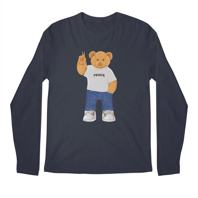 Peace Bear Men's Regular Longsleeve T-Shirt by barmalisiRTB