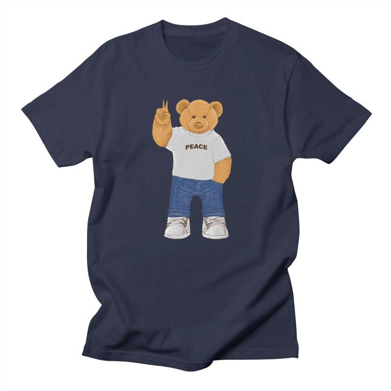 Peace Bear Men's Regular T-Shirt by barmalisiRTB