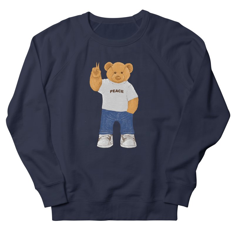 Peace Bear Men's French Terry Sweatshirt by barmalisiRTB