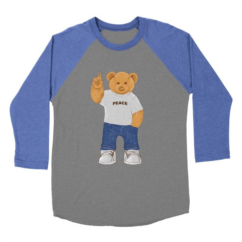 Peace Bear Women's Baseball Triblend Longsleeve T-Shirt by barmalisiRTB