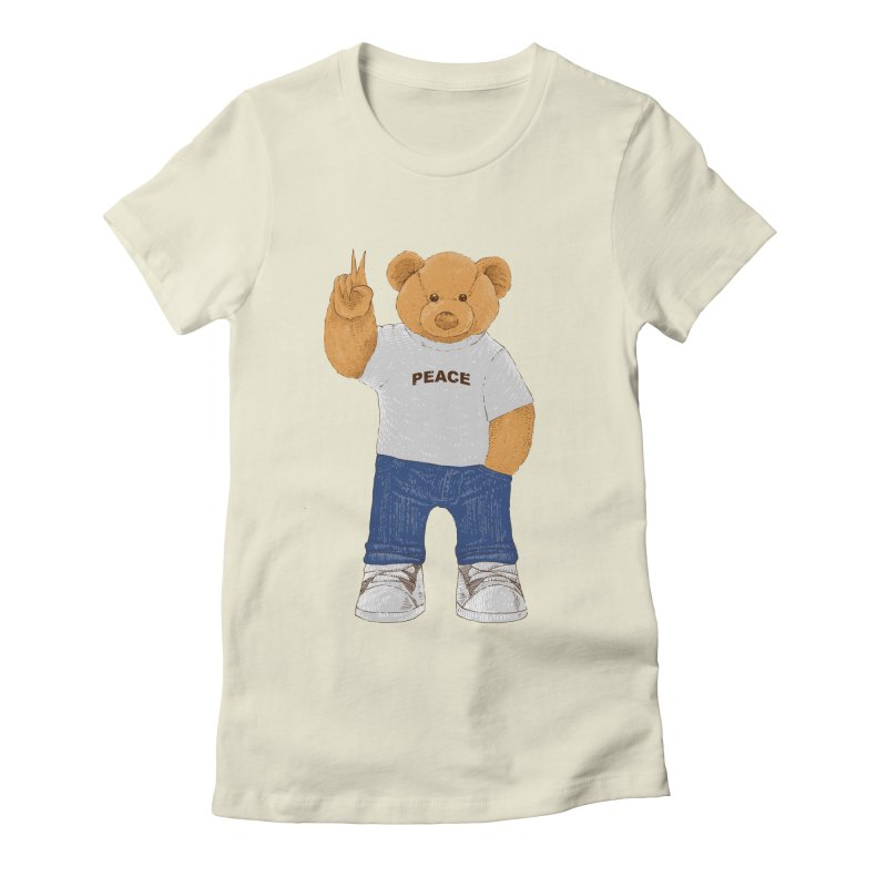 Peace Bear Women's Fitted T-Shirt by barmalisiRTB