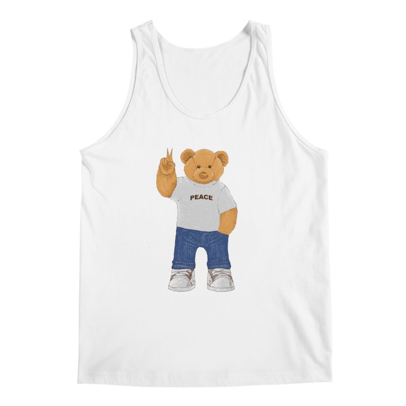 Peace Bear Men's Regular Tank by barmalisiRTB