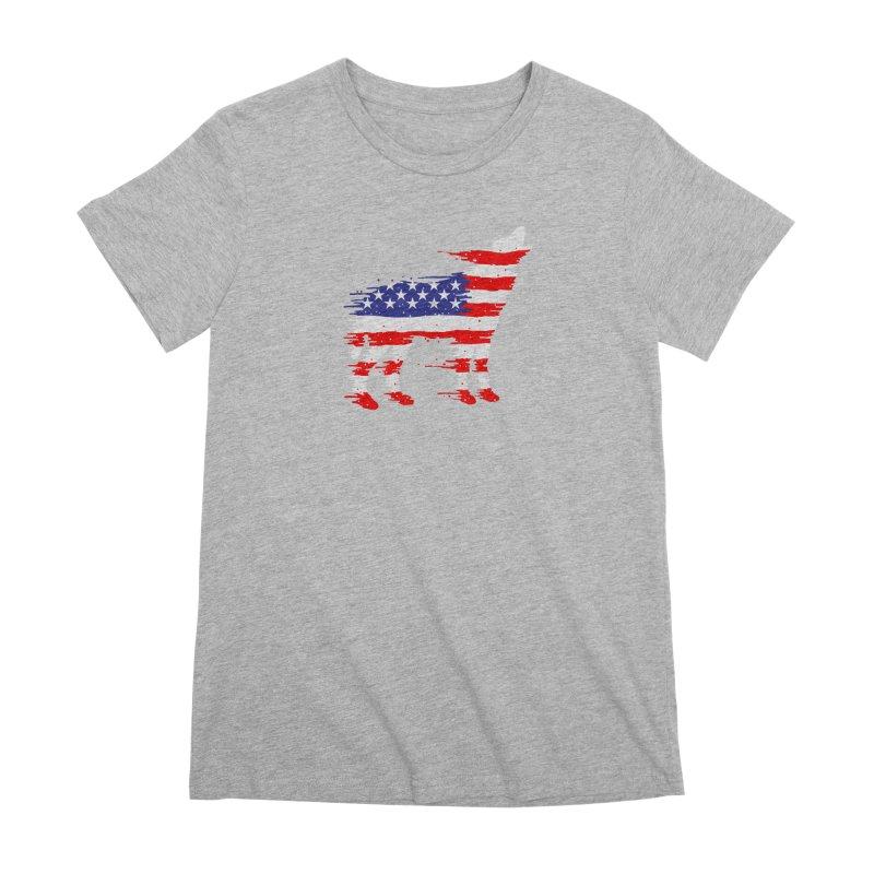 American Wolf Women's Premium T-Shirt by barmalisiRTB