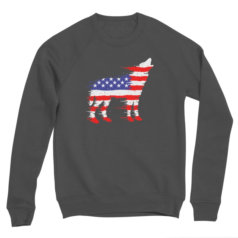American Wolf Men's Sponge Fleece Sweatshirt by barmalisiRTB