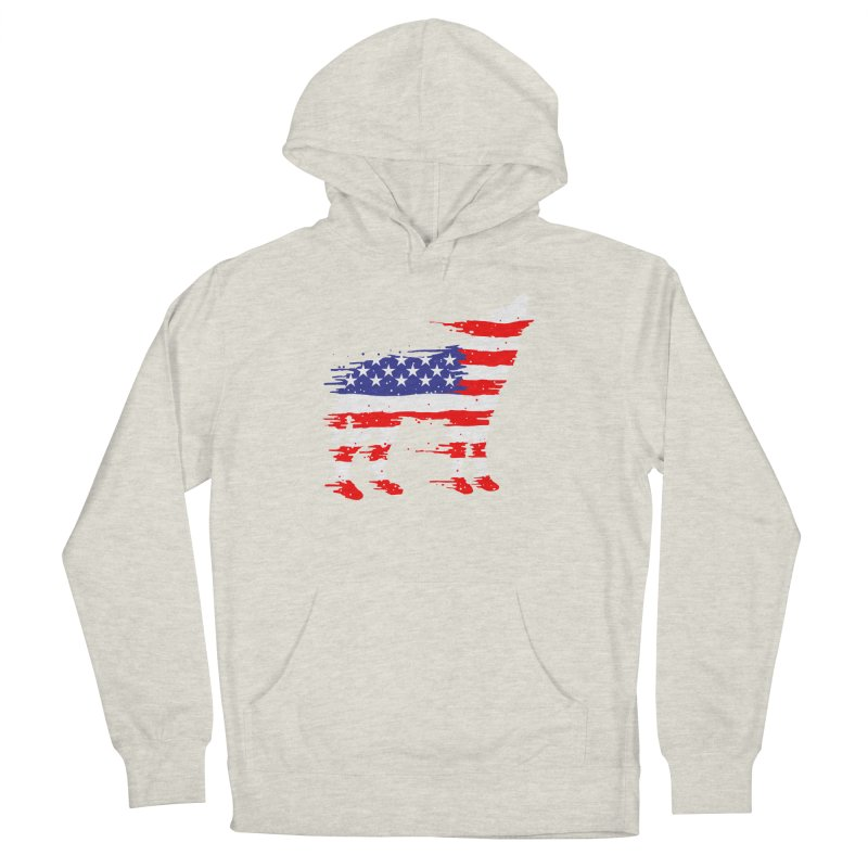 American Wolf Men's French Terry Pullover Hoody by barmalisiRTB