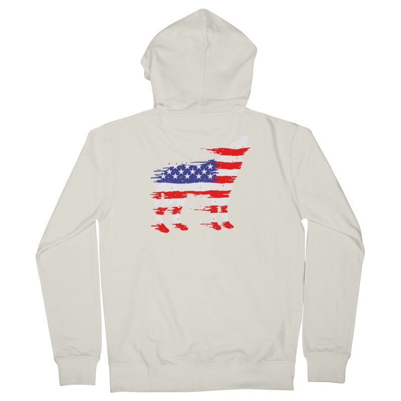 American Wolf Men's French Terry Zip-Up Hoody by barmalisiRTB