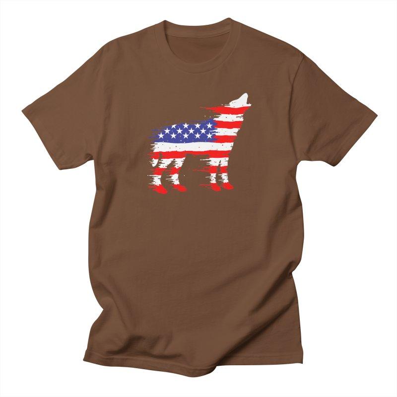 American Wolf Men's Regular T-Shirt by barmalisiRTB