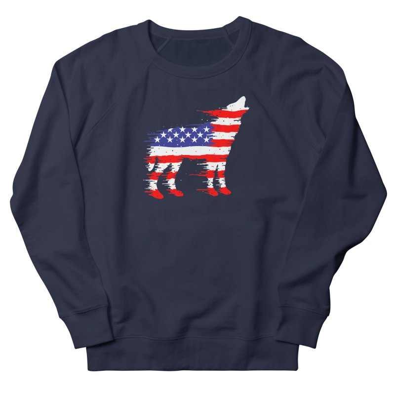 American Wolf Women's French Terry Sweatshirt by barmalisiRTB