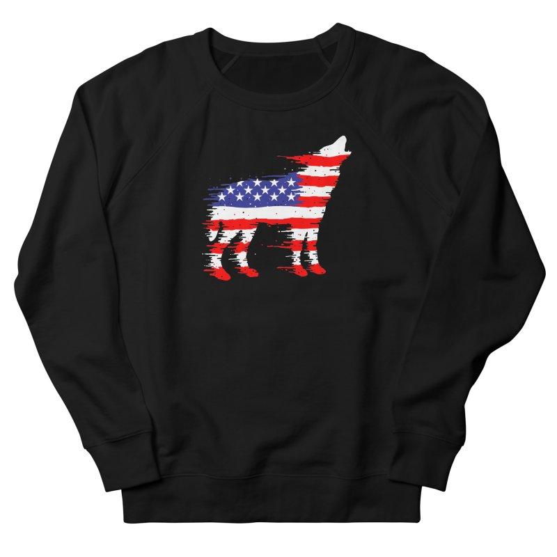 American Wolf Men's French Terry Sweatshirt by barmalisiRTB