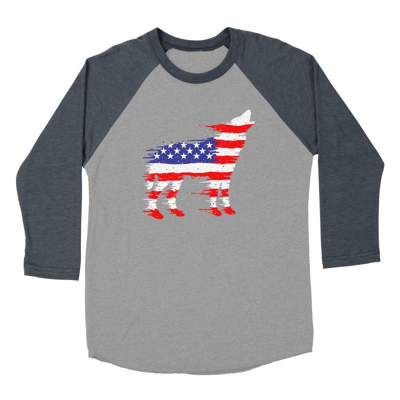 American Wolf Women's Baseball Triblend Longsleeve T-Shirt by barmalisiRTB